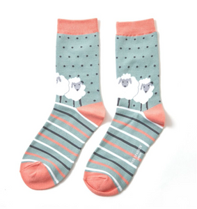 Miss Sparrow Bamboo Ladies Socks - Sheep Friends