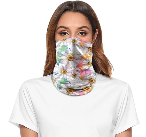 Reusable Face Bandana Face Mask - Bright Flowers