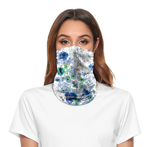 Reusable Face Bandana Face Mask - Cornflowers