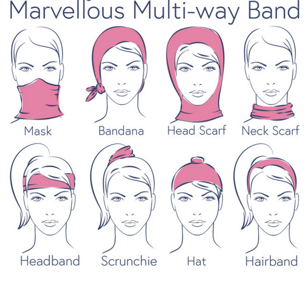 Powder Designs Multiway Headband - Leaf Cream