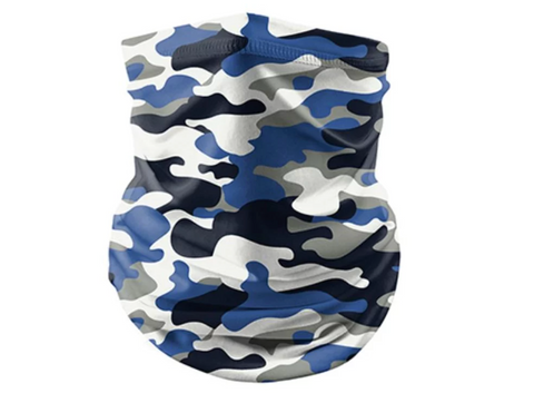 Reusable Face Bandana Face Mask - Blue Camo