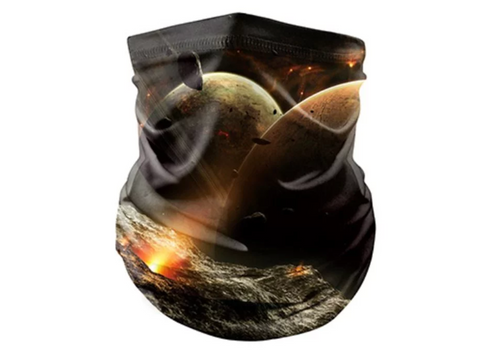 Reusable Face Bandana Face Mask - Planets