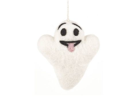 Handmade Hanging Buster the Ghost Biodegradable Halloween Decoration