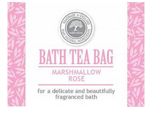 Bath Tea Bag -Marshmallow Rose
