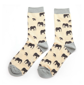 Miss Sparrow Bamboo Ladies Socks - Elephant Cream