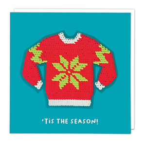 "Greetings Card Redback Christmas Cards Shine ""Ugly Jumper"""