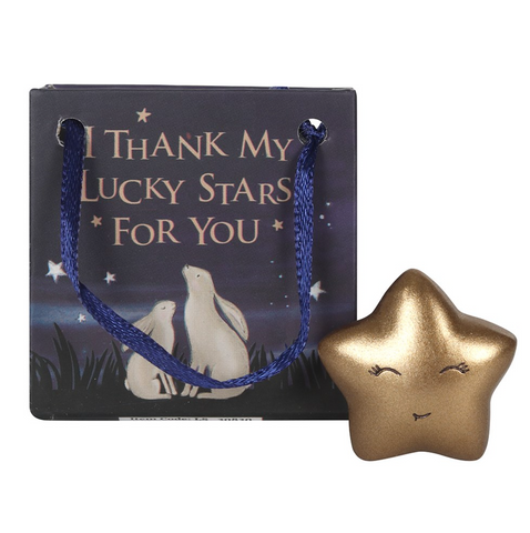 """I Thank My Lucky Stars For You"" Star Token in a Gift Bag"