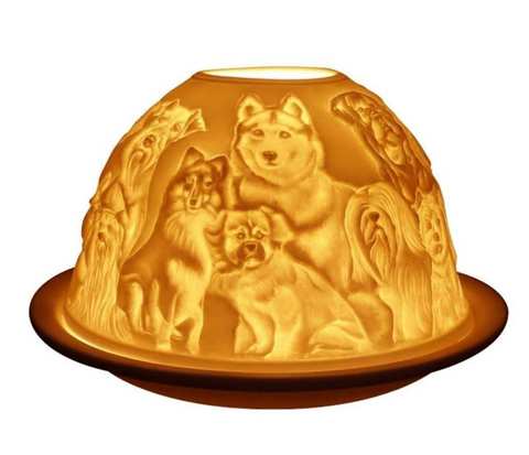 Light-Glow Best Friends (Dogs) Tealight Candle Holder