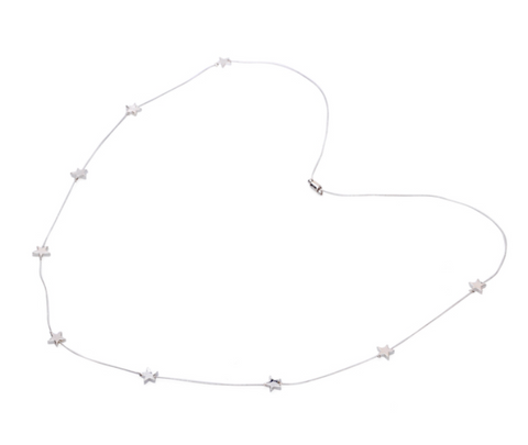 Adjustable Tiny Stars Necklace - Silver Colour