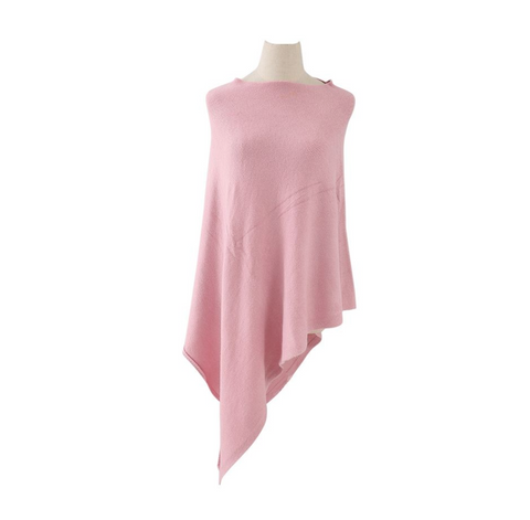 Plain Knitted Winter Wrap - Pink