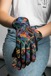 Molly Embroidered Touchscreen Gloves - Royal