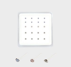 Sterling Silver Opal Nose Stud