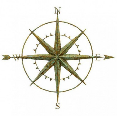 Compass Wall Art by London Ornaments