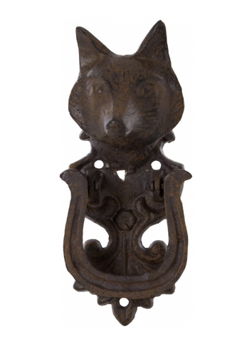 Decorative Cast Iron Fox Door Knocker