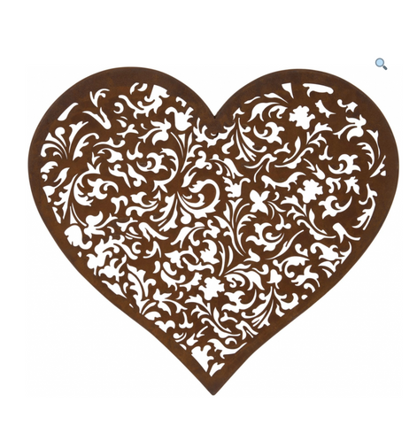 Outdoor Heart Wall Plaque