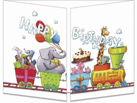 Sophie Turrel Folding Greetings Card - Birthday Express CT304