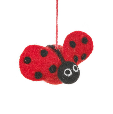 Felt Lottie Ladybird Hanging Decoration