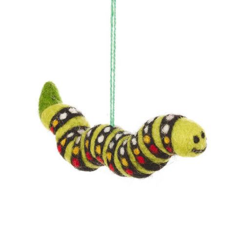Felt Carl the Caterpillar Hanging Decoration