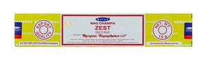 Satya Nag Champa Incense Sticks 15g - Zest