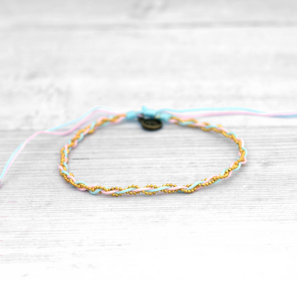 Pineapple Island Beaded Anklet - Assorted colours