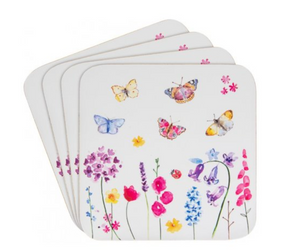 Butterfly Garden Coasters, Set of 4
