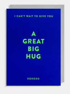 "Greetings Card - Lagom Card- ""I Can't Wait To Give You A Great Big Hug"""
