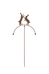 Garden Metal Moving Balancing Hares