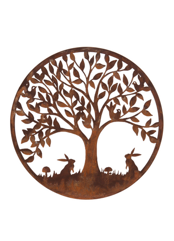 Outdoor Metal Woodland Scene Plaque 60cm