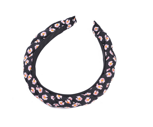Daisy Croissant Style Headband - Brown, Blue, Black or Red