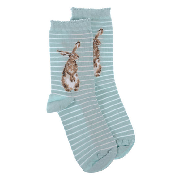 Wrendale Designs Bamboo Ladies Socks - Hare and The Bee