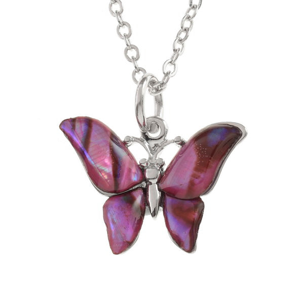 Paua Shell Butterfly Necklace TJ019