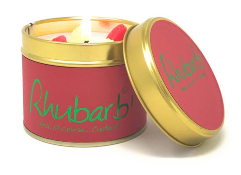 Lily Flame Rhubarb Candle