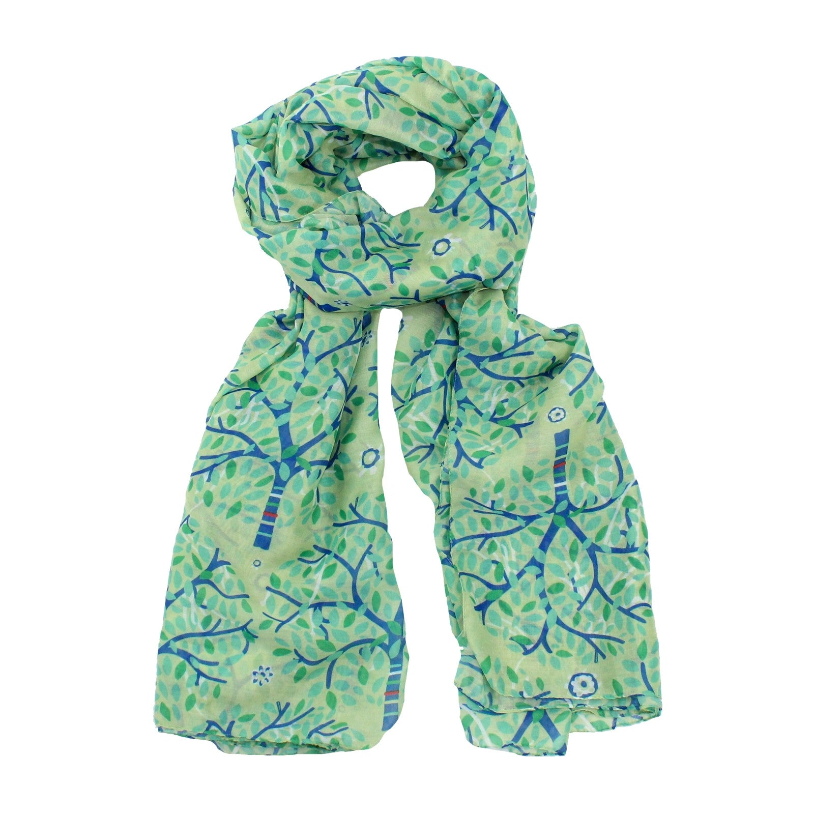 Ribbon Tree Scarf - Green