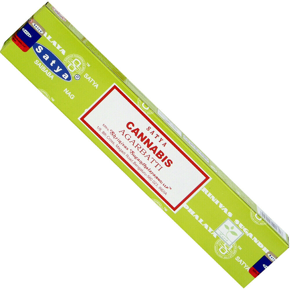 Satya Nag Champa Incense Sticks 15g - Cannabis