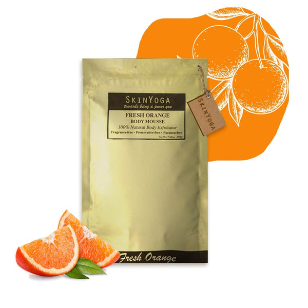 fresh orange body wash pouch