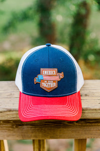 America - We Stand Together - Navy/Red/White Hat