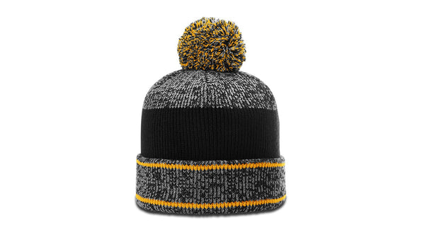 Richardson 148 HEATHERED BEANIE W/ CUFF & POM