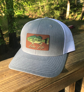 Lake Life - Fish - Leather Patch Hat