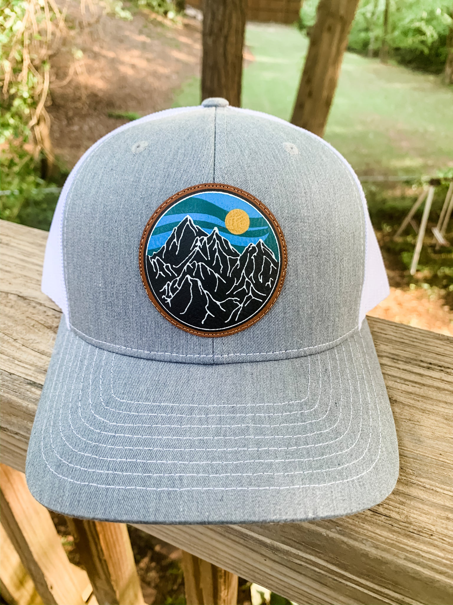 Mountain Range - Leather Patch Hat