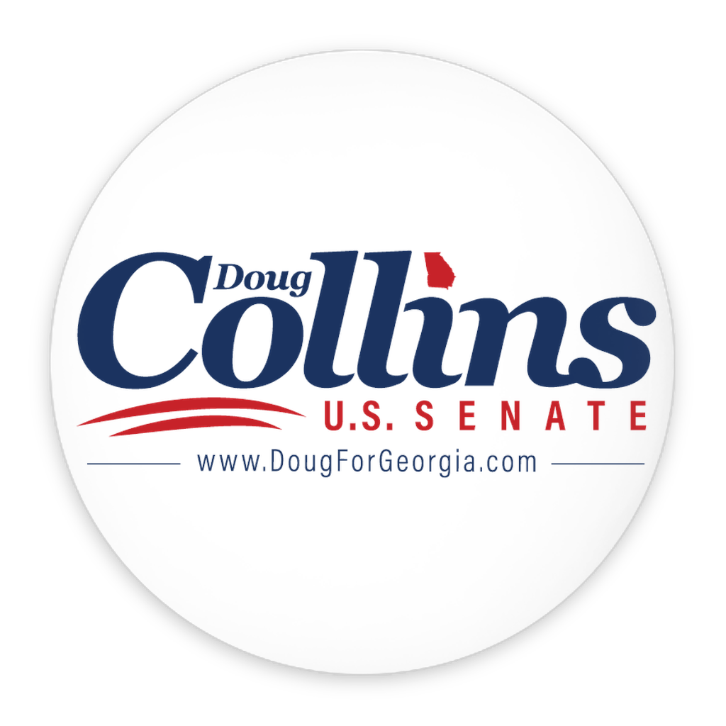 Doug for Georgia 2 Pack Buttons