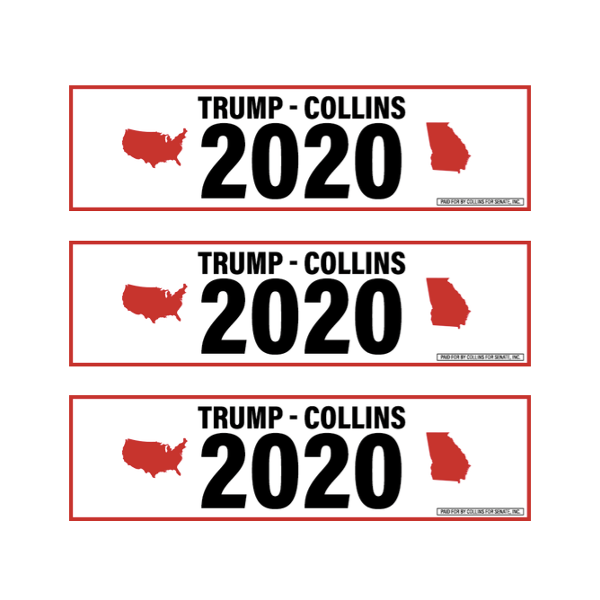 Trump-Collins 2020 Sticker