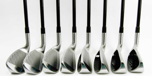Nova 8 Iron Set showing Club Faces from the front