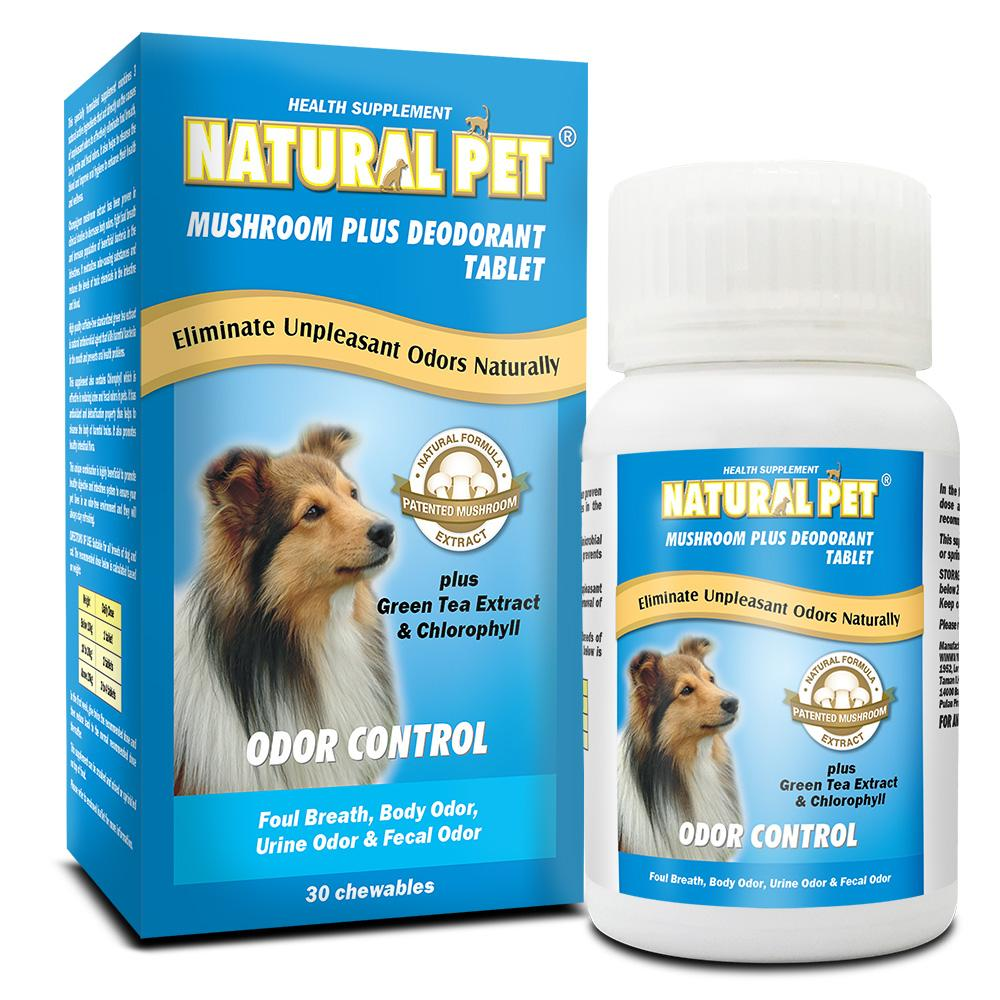 Natural Pet - Mushroom Plus Deodorant Tablet (30 Tablets)