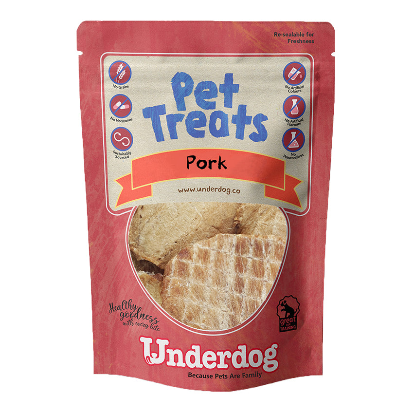 Underdog - Pork Air Dried Dog Treats (80g)