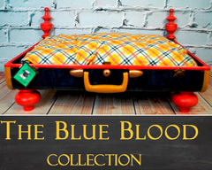 Pet Suitcase Bed - The Blue Blood