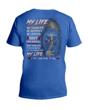 Load image into Gallery viewer, My Life My Choices My Mistakes My Lessons Special Custom Design Guys V-Neck
