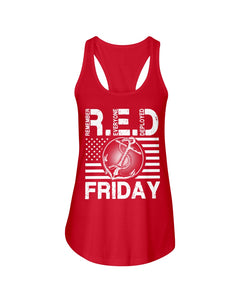 Remember Everyone Deploved Red Friday Gifts Ladies Flowy Tank