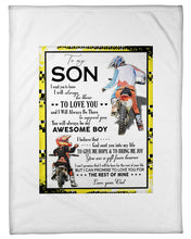 Load image into Gallery viewer, I Will Always Be There To Support You Great Words From Dad To Son Fleece Blanket