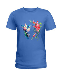Color Hummingbird Funny Custom Design For Bird Lover Ladies Tee