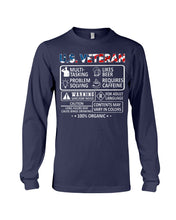 Load image into Gallery viewer, U.S Veteran Multi Tasking Likes Beer 100% Organic Gifts Unisex Long Sleeve